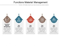 Functions Material Management Ppt Powerpoint Presentation Outline Inspiration Cpb