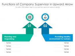 Functions Of Company Supervisor In Upward Arrow