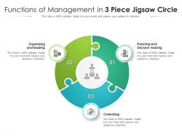 Functions Of Management In 3 Piece Jigsaw Circle