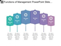 Functions Of Management Powerpoint Slide Templates