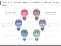 Functions Of Organizational Culture Ppt Powerpoint Themes