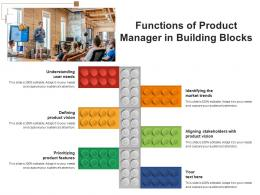 Functions Of Product Manager In Building Blocks