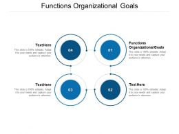 Functions Organizational Goals Ppt Powerpoint Presentation Summary Guidelines Cpb