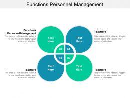 Functions Personnel Management Ppt Powerpoint Presentation Slides Portrait Cpb