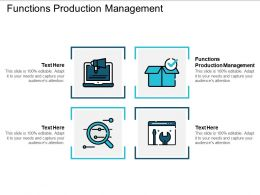 Functions Production Management Ppt Powerpoint Presentation Ideas Outfit Cpb