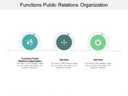 Functions Public Relations Organization Ppt Powerpoint Presentation Outline Diagrams Cpb