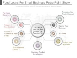 Fund Loans For Small Business Powerpoint Show