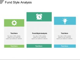 Fund Style Analysis Ppt Powerpoint Presentation Pictures Sample Cpb