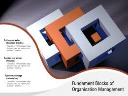 Fundament Blocks Of Organisation Management