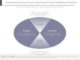 Fundamental Concepts In Accounting Powerpoint Slide Presentation Guidelines