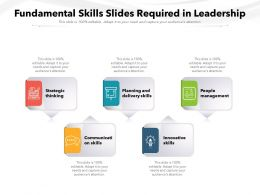Fundamental Skills Slides Required In Leadership