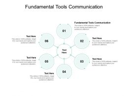 Fundamental Tools Communication Ppt Powerpoint Presentation Layouts Professional Cpb