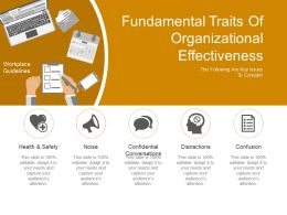 Fundamental Traits Of Organizational Effectiveness Presentation Graphics