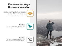 Fundamental Ways Business Valuation Ppt Powerpoint Presentation Inspiration Deck Cpb