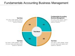 Fundamentals Accounting Business Management Ppt Powerpoint Presentation Summary Design Cpb