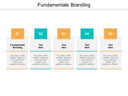 Fundamentals Branding Ppt Powerpoint Presentation Ideas Design Templates Cpb