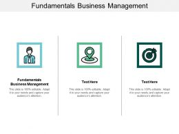 Fundamentals Business Management Ppt Powerpoint Presentation Styles Deck Cpb