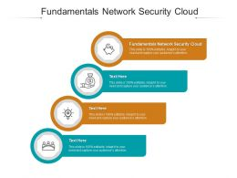 Fundamentals Network Security Cloud Ppt Powerpoint Presentation Summary Inspiration Cpb