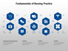 Fundamentals Of Nursing Practice Ppt Powerpoint Presentation Pictures Grid