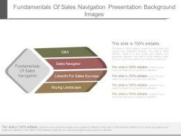 Fundamentals Of Sales Navigation Presentation Background Images