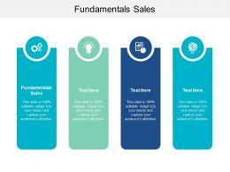 Fundamentals Sales Ppt Powerpoint Presentation File Portrait Cpb