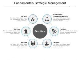 Fundamentals Strategic Management Ppt Powerpoint Presentation Model Design Ideas Cpb