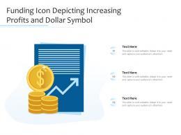 Funding Icon Depicting Increasing Profits And Dollar Symbol