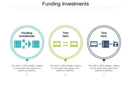 Funding Investments Ppt Powerpoint Presentation Show Slides Cpb