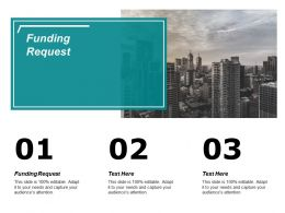 Funding Request Ppt Powerpoint Presentation Icon Example Cpb