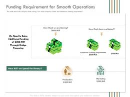 Funding Requirement For Smooth Operations Raise Funding Bridge Funding Ppt Rules