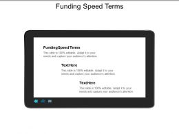 Funding Speed Terms Ppt Powerpoint Presentation Gallery Graphics Design Cpb