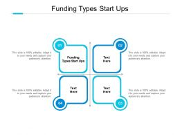 Funding Types Start Ups Ppt Powerpoint Presentation Inspiration Clipart Cpb