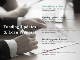 Funding Updates And Loan Proposal Ppt Professional Graphic Tips