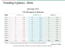 Funding Updates Debt Ppt Professional Graphics Design