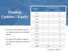 Funding Updates Equity Ppt Summary Example Introduction