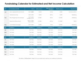 Fundraising Calendar For Estimated And Net Income Calculation