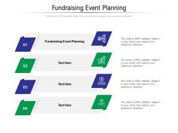 Fundraising Event Planning Ppt Powerpoint Presentation Inspiration Information Cpb