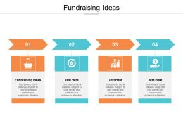 Fundraising Ideas Ppt Powerpoint Presentation Infographics Gridlines Cpb