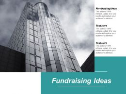 Fundraising Ideas Ppt Powerpoint Presentation Inspiration Styles Cpb