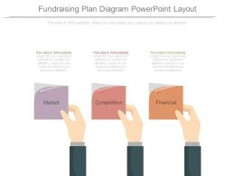 Fundraising Plan Diagram Powerpoint Layout