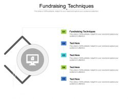 Fundraising Techniques Ppt Powerpoint Presentation Icon Rules Cpb