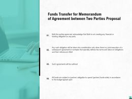 Funds Transfer For Memorandum Of Agreement Between Two Parties Proposal Ppt Idea