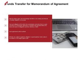 Funds Transfer For Memorandum Of Agreement Business Ppt Powerpoint Presentation File