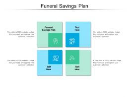 Funeral Savings Plan Ppt Powerpoint Presentation Pictures Graphics Design Cpb