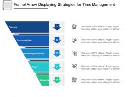 Funnel Arrow Displaying Strategies For Time Management