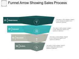 Funnel Arrow Showing Sales Process