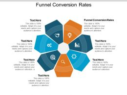 Funnel Conversion Rates Ppt Powerpoint Presentation Outline Images Cpb