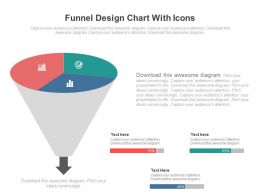 Funnel Design Chart With Icons Powerpoint Slides