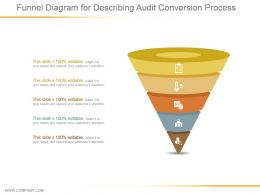 Funnel Diagram For Describing Audit Conversion Process Ppt Background