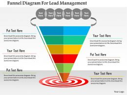 Funnel Diagram For Lead Management Flat Powerpoint Design